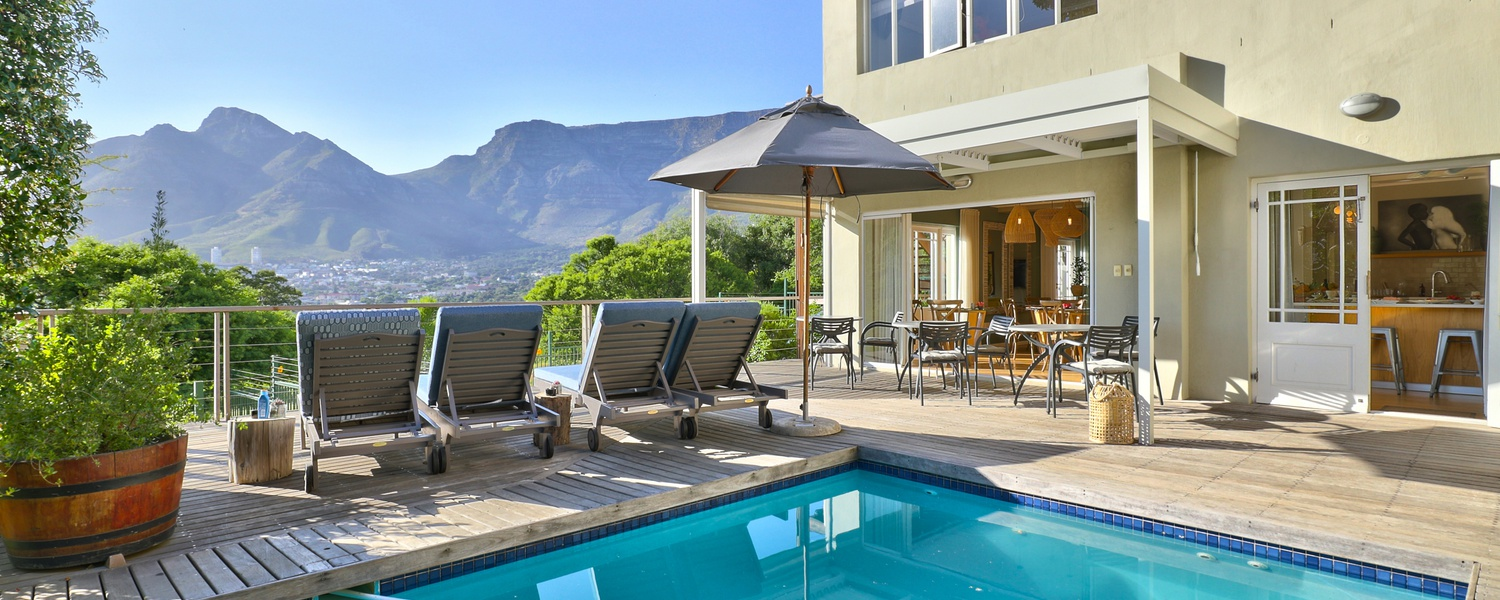 Pristine views of Table Mountain await you whilst you bask in the sun